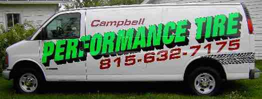 Campbell Performance Tire Van