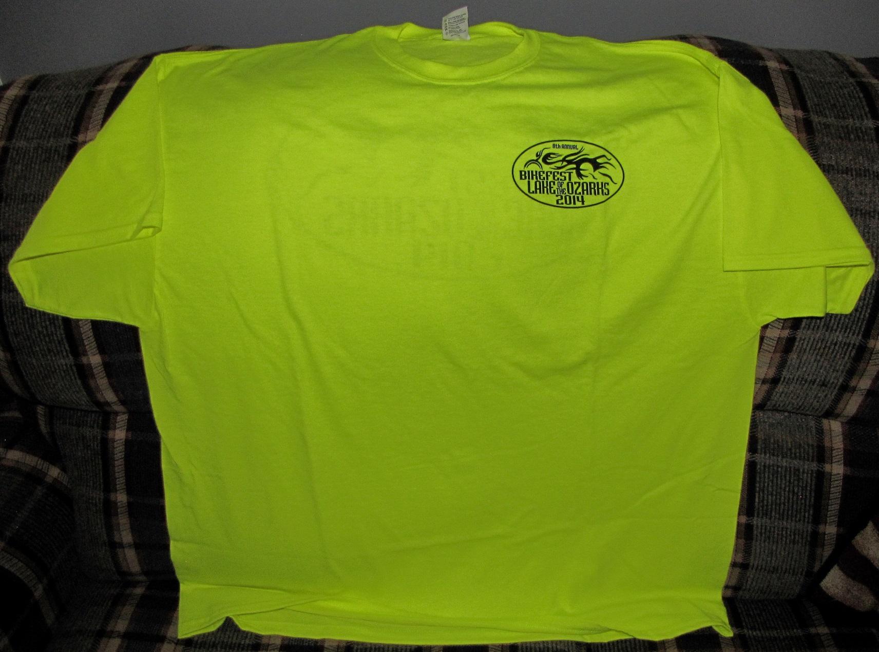 Safety Green t Shirt T-shirt 2xl Safety Green