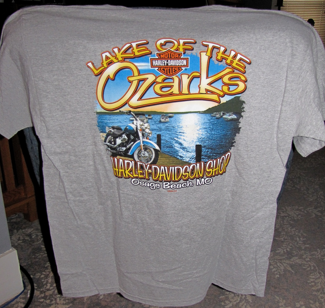 HD-25 Lake Of The Ozarks Harley Davidson Bikefest 2014 T-Shirt 2XL