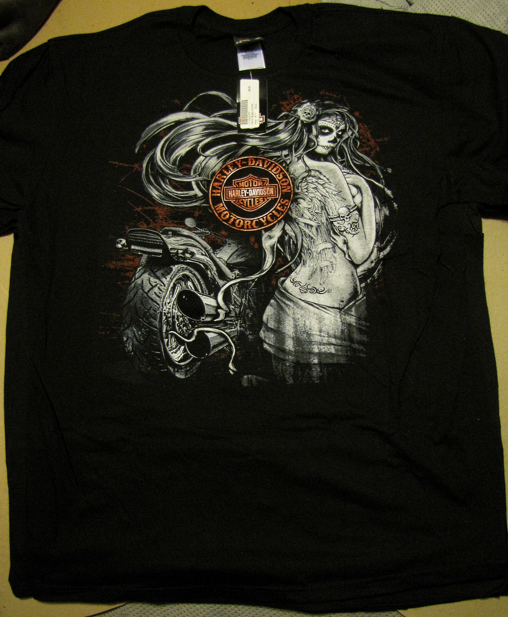 Black t shirt xl -  Hd 11 Black Widow Harley Davidson T Shirt Xl