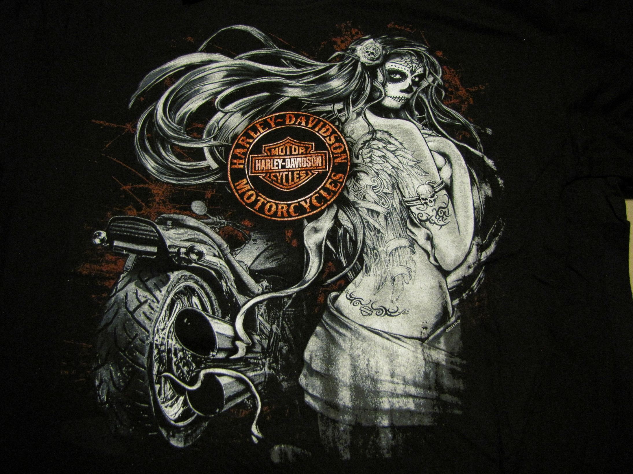HD-11 Black Widow Harley Davidson T-Shirt XL