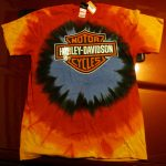 HD-13 HD Of Madison WI LG Orange TieDye SS Front